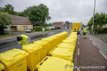 Inwoners van Berlaar krijgen gele papiercontainer