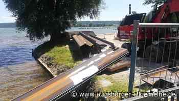 Unfall auf der Baustelle in den Dießener Seeanlagen
