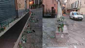 Palermo, un tappeto di vetri nelle piazze del centro storico: l'ordinanza del sindaco è un flop - La Repubblica