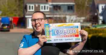 ADVERTORIAL: Lottery winner left speechless when cheque is unveiled