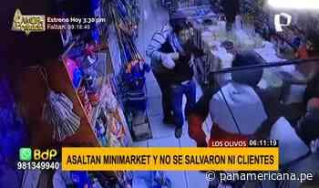 Los Olivos: delincuentes armados asaltan minimarket y se llevan celulares de clientes - Panamericana Televisión