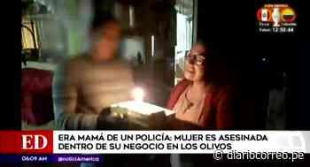 Madre de policía es asesinada dentro de su negocio en Los Olivos - Diario Correo
