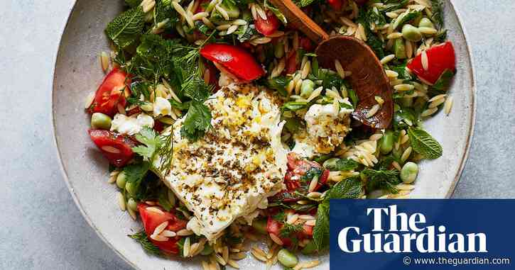 Thomasina Miers' recipe for kritharaki, broad beans and tomato with baked feta | The simple fix