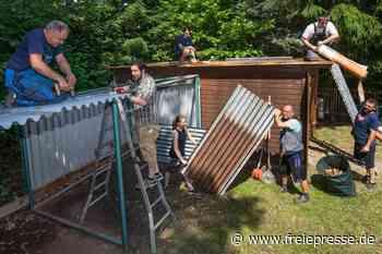 DRK-Helfer packen auch bei Hitze an - Freie Presse