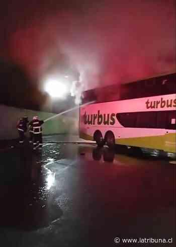 Incendio afecta a bus de recorrido Laja-Santiago - Diario La Tribuna