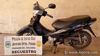 Recuperaron una moto que fue robada en Colonia Avellaneda - Elonce.com