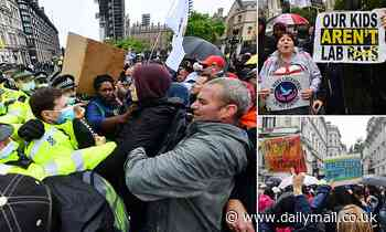 Anti-lockdown activists clash with police in Parliament Square over 'Freedom Day' delay