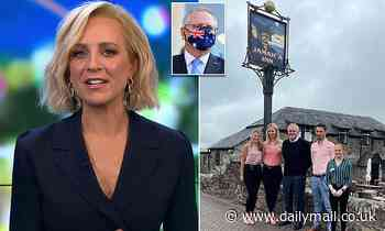 Carrie Bickmore pokes fun at Scott Morrison after his visit to his relative's Cornish village