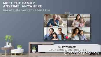 Mi TV Webcam With Support for Full-HD Video Calls Over Google Duo Set to Launch in India on June 24