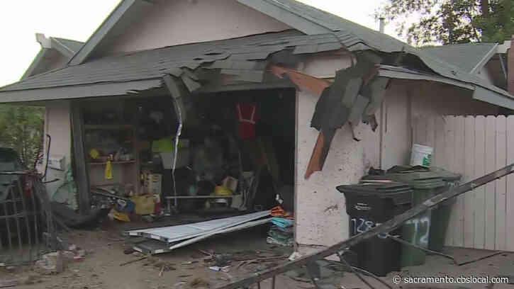 High-Speed Chase Preceded Car Slamming Into South Sacramento Home, Neighbors Say