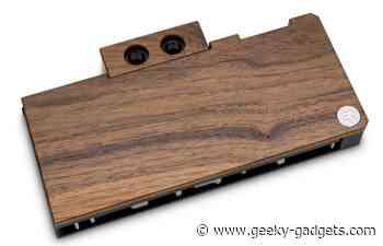 Walnut wood RTX 30-series water blocks - Geeky Gadgets
