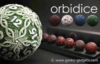 Orbidice RPG dice set are uniquely round - Geeky Gadgets