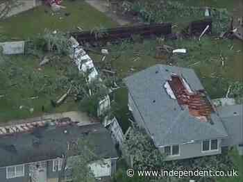 'Large and extremely dangerous' tornado hits Chicago suburbs