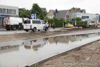 Wateroverlast op werf in Vesten