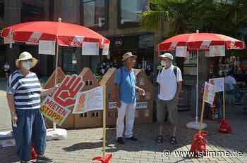 Demo in Heilbronn für einen sechsjährigen Mietstopp - Heilbronner Stimme