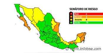 Mapa del coronavirus en México 21 de junio: 19 entidades en verde, ocho en amarillo y sólo cinco en naranja - infobae