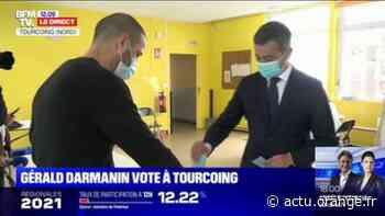 Régionales 2021: Gérald Darmanin vote à Tourcoing - Actu Orange