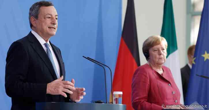 """Draghi e Merkel: """"Cauti sul Covid, progresso fragile perché ci sono le nuove varianti"""". Il premier: riforme per Italia equa e sostenibile"""