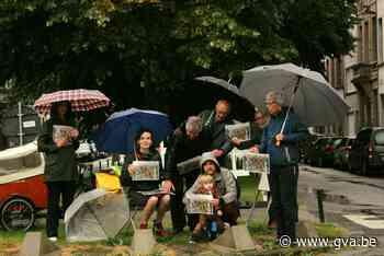 Bewoners protesteren tegen nieuwe inrichting Victor Jacobsle... (Berchem) - Gazet van Antwerpen