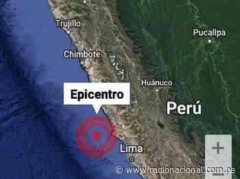 Sismo de 3.8 se registró en Huaura | Nacional - Radio Nacional del Perú
