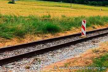 Unbekannte blockieren Gleise der Kandertalbahn mit Hindernissen - Kandern - Badische Zeitung