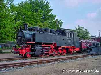 damals - auf dem Betriebsgelände der Lößnitztalbahn in Radebeul - Radebeul - myheimat.de