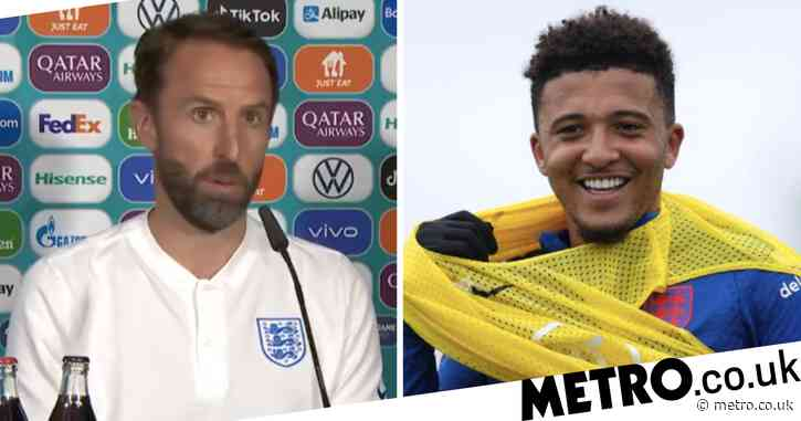Gareth Southgate responds to calls to start Jadon Sancho for England's Euro 2020 clash with Czech Republic