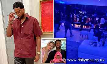 Tristan Thompson was seen disappearing into a bedroom with three women at a Bel Air party