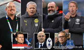 Will the managerial merry-go-round EVER end? Spurs, Everton and Palace are STILL searching
