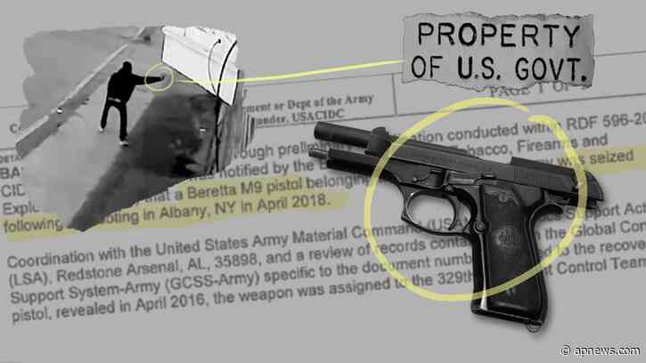AP: Some stolen US military guns used in violent crimes