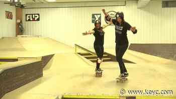 Learning to skateboard at Chesley Skate Park - KEYC