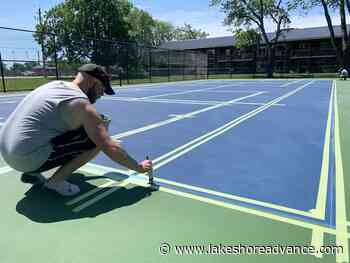 Finishing touches applied to new tennis courts - Lakeshore Advance