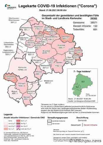 Coronazahlen in der Region (Stand 21. Juni): Coronavirus in Bretten, dem Landkreis Karlsruhe sowie Rhein-Neckar und Enzkreis - Bretten - kraichgau.news