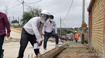 Tumbes: ejecutan obra de saneamiento y pavimentación en centro poblado de Pampa Grande - LaRepública.pe