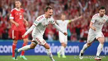 Denmark achieve Euros first with Russia thrashing