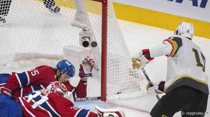 Nicolas Roy overtime goal gives Golden Knights win over Canadiens, series tied 2-2 - CKPGToday.ca