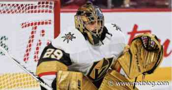 Marc-André Fleury May Reportedly Not Be The Golden Knights' Goalie Versus The Habs Tonight - MTL Blog