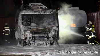 20.06.2021 – Rommerskirchen – Vollalarm: Tankwagen brannte auf einem Firmengelände - Emergency-Report.de