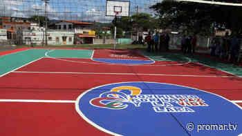 100% rehabilitada quedó la cancha deportiva de la UE Bella Vista en la parroquia Concepción - Noticias de Barquisimeto - PromarTV - PromarTV