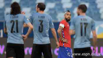 Chile, Uruguay play to Copa draw on Vidal's own goal