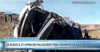 Ica: 12 muertos tras despiste de ómnibus en Nazca - América Televisión