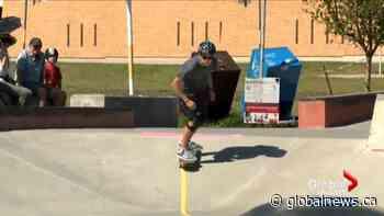 Calgary teen who is visually impaired wins award for designing adaptive skateboard park