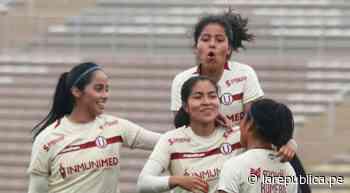 Universitario aplastó 8-0 a Atlético Trujillo en la tercera fecha de la Liga Femenina 2021 - LaRepública.pe