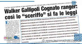 """WALKER GALLIPOLI COGNATO RANGER: COSÌ LO """"SCERIFFO"""" SI FA LE LEGGI - Cronache TV"""