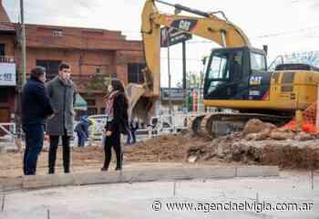 Avanza en Quilmes la obra de refacción integral del ingreso a Villa La Florida por la Avenida 844 - Agencia El Vigía