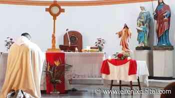 Sociales. El Padre Rafael ordenó juntar las imágenes de los Santos Patronos de Laprida - El Fenix Digital