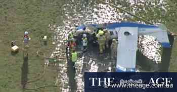 Pilot seriously injured in light plane crash near Moorabbin Airport