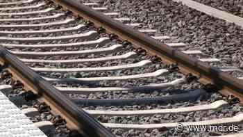 Zug-Notbremsung bei Stotternheim: Mehrere Menschen laufen über Gleise - MDR