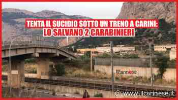 Tenta il suicidio sotto un treno a Carini: 2 Carabinieri lo salvano - ilcarinese.it - Scavo Giuseppe