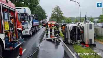 Unfall in Friesoythe: Kehrmaschine kollidiert mit Wohnmobil - Nordwest-Zeitung